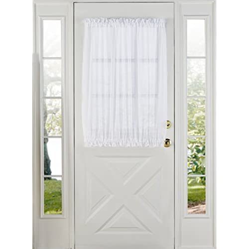 Stylemaster Elegance Sheer Voile Door Panel 60 X 40 White