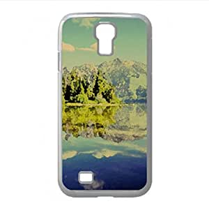 Beautiful Mountain Lake Scenery Watercolor style Cover Samsung Galaxy S4 I9500 Case (Lakes Watercolor style Cover Samsung Galaxy S4 I9500 Case)