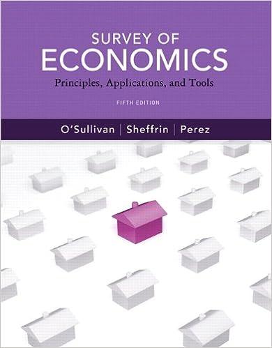 Survey of economics: principles, applications and tools, student.