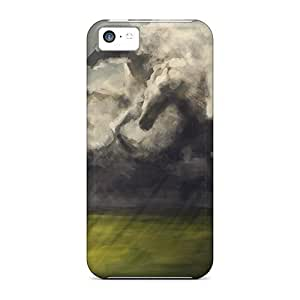 LJF phone case BhKnuyO5388SZPES Tpu Phone Case With Fashionable Look For iphone 5/5s - Horse Sky
