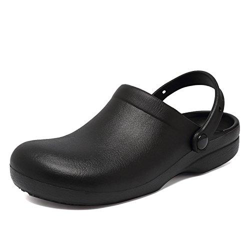 CIOR Garden Clogs Slip Resistant Nursing Clog For Men Women Rubber Chef Shoes Black e1XGkaH6I