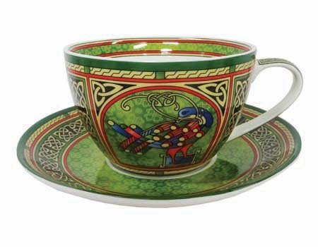 Royal Tara Celtic Peacock Cup & Saucer-Irish Weave (Weave Pattern Celtic)