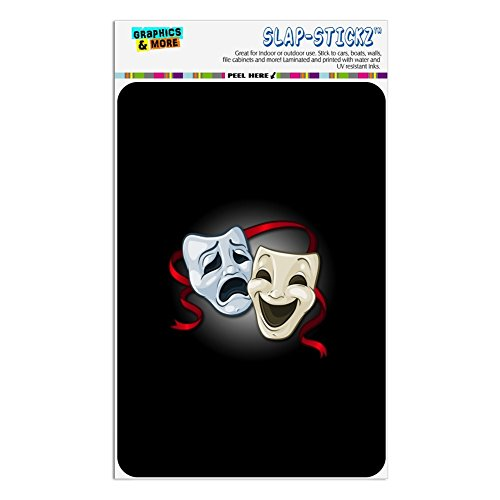 Drama Comedy Tragedy Masks Theater Home Business Office Sign - Window Sticker - 4