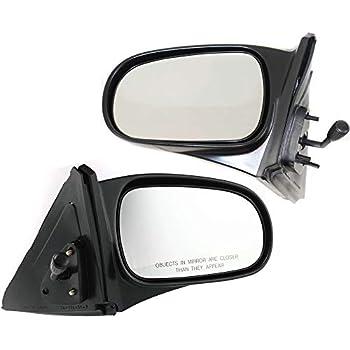 Kool Vue Power Mirror For 1996-2000 Honda Civic Textured Black Pair Black