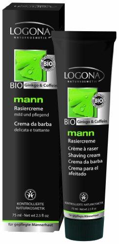 Logona Mann Shaving Cream, 2.5 Fluid Ounce