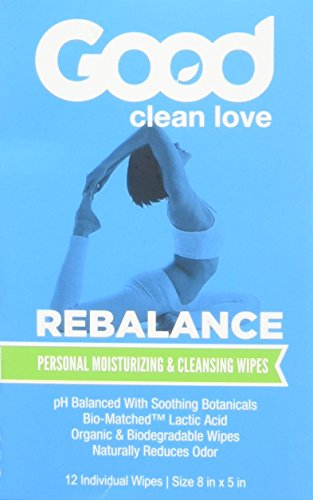 Good Clean Love Rebalance Personal Moisturizing & Cleansing Wipes (12 Individual Wipes - 8