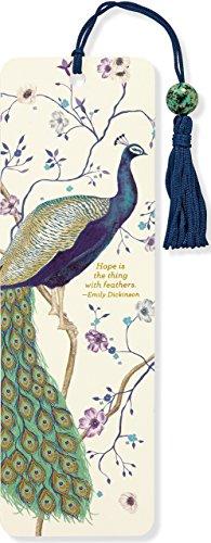 Peacock Beaded Bookmark from Peter Pauper Press