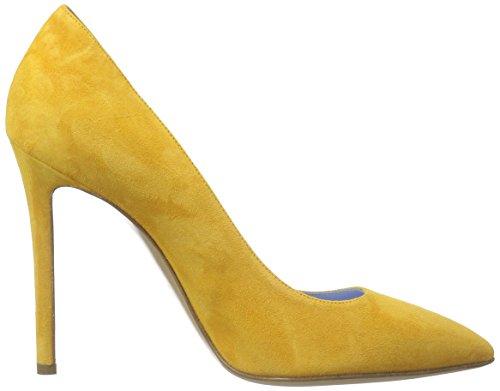 Pollini Scarpad.princess105 Camosc.Ocra, Zapatos de Baile Salón para Mujer Amarillo