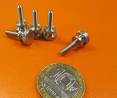 18-8 Stainless Steel Thread Size #6-32 FastenerParts Flared-Collar Knurled-Head Thumb Screw