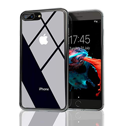 Nicexx iPhone 6 Case | iPhone 6S Case | Transparent Clear Case with Anti-Scratch 9H Tempered Glass Back and Soft TPU Bumper Drop Protection, Wireless Charging Compatible with iPhone 6/iPhone 6S