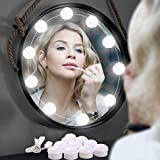 Hollywood Style LED Vanity Mirror Lights Kit for Makeup with 10 Dimmable Light Bulbs, Lighting Fixture Strip for Makeup Vanity Table Set in Dressing Room (Mirror Not Include)