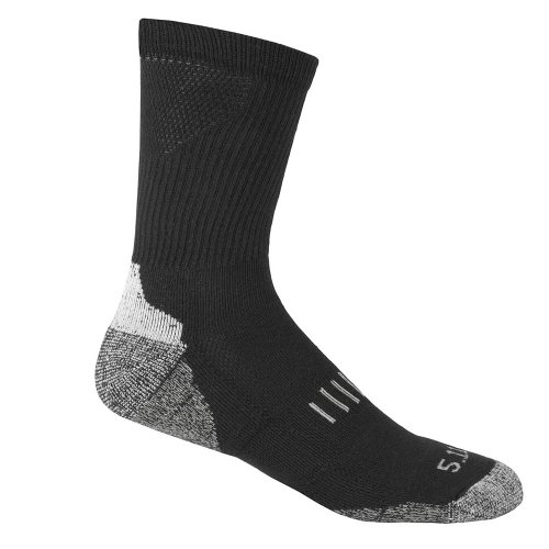 Socks, Crew, L/XL, Black, PR