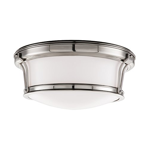 (Hudson Valley Lighting 6513-SN Two Light Flush Mount from The Newport Collection, 13