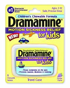 Dramamine Motion Sickness Relief for Kids, Grape Flavor, 8 Count (6 Pack) by Dramamine (Image #1)