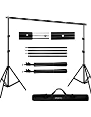 Backdrop Stand Kit, BDDFOTO 6.5x10ft/2x3m Photography Adjustable Background Stand System with Canvas Bag,Photography Studio Photo Video Backdrop Support System Kit(No Backdrop & Clamp Included), Ideal Gift for Photography Beginner Birthday Present