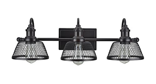 - Aspen Creative 62095, Three-Light Metal Bathroom Vanity Wall Light Fixture, 25