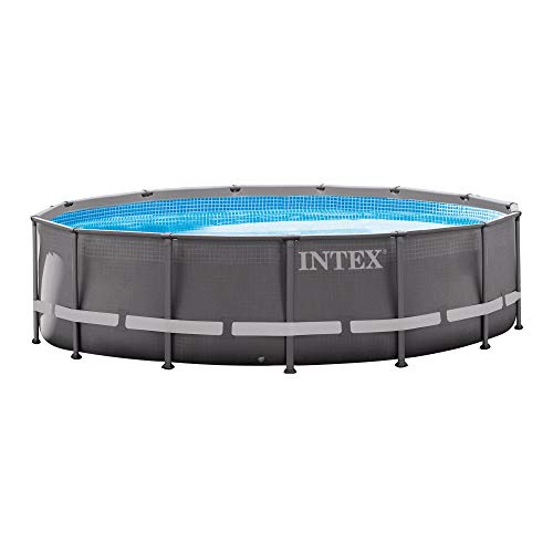 Intex 14ft X 42in Ultra Frame Pool Set with Filter Pump, Ladder, Ground Cloth & Pool Cover (Summer Escapes 15 X 42 Pool Pump)