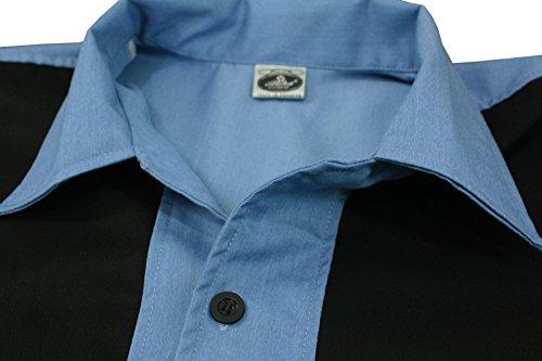 Los A Vintage Azul Bolos Colores Negro Jugar Dos Camiseta Y Estilo Para Hombre De Años 50 D600 tIv4B