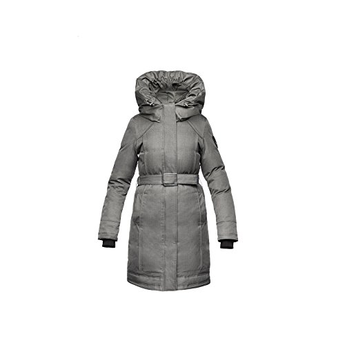 Nobis Women's The Astrid Parka Jacket Down Coat (Large, CH Steel Grey)