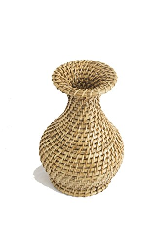 Wobaca Handcrafted Eco-friendly Cane and Rattan Wicker Decorative Vase (Eco Friendly Vases)