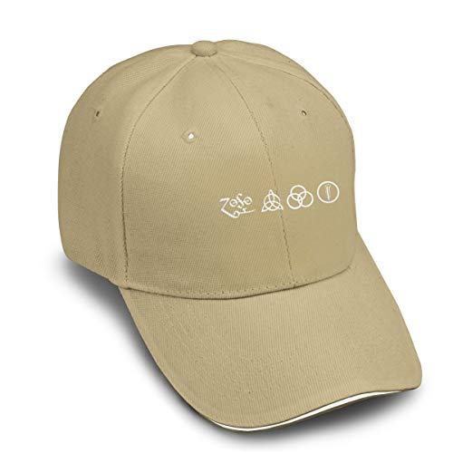 GMSFF Led Zeppelin Runes Design Classic Casual Baseball Cap with Adjustable Strap Cap Natural