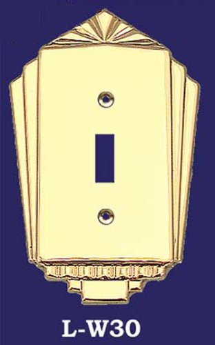 (Art Deco Single Switch Cover Plate (L-W30))