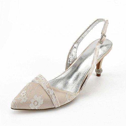 Chaussures Zxstz bride et en cheville femmes pour pointu bout champagne à awOPxqw