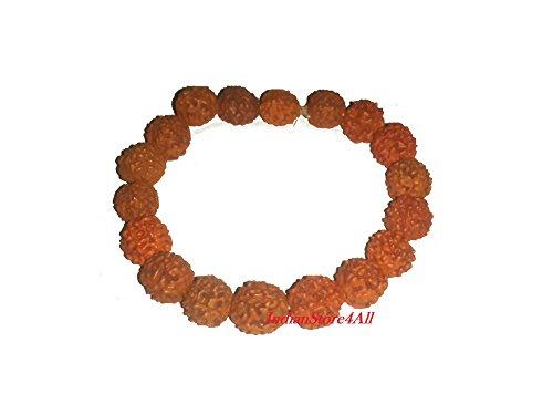 Luck Bead - IndianStore4All Rudraksha Bracelet Stretch for Good Luck and Positive Energy