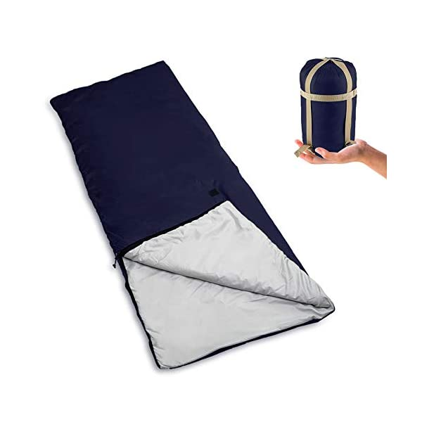 Bessport Lightweight Sleeping Bag, 800g Camping Sleeping Bag for 3 Season with Compression Sack Fits Kid/Adults Traveling, Backpacking, Hiking, Outdoor Activities 3