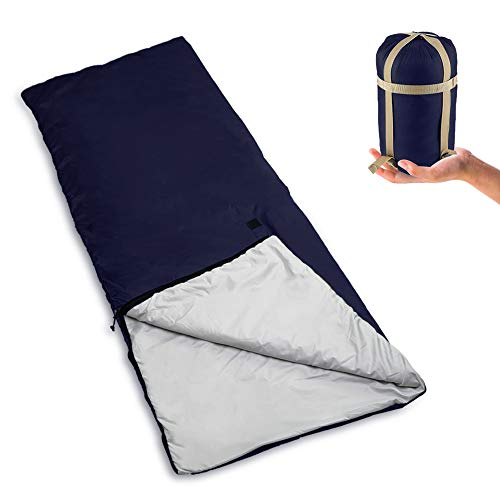 Bessport Lightweight Sleeping Bag, 800g Camping Sleeping Bag for 3 Season with Compression Sack Fits Kid Adults Traveling, Backpacking, Hiking, Outdoor Activities