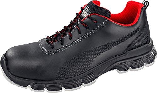 Puma Scarpe di sicurezza Bassi Pioneer S3ESD SRC Black/Red/White