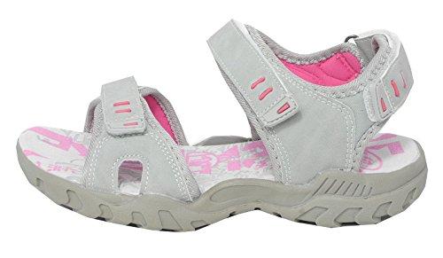 grau Damen 8 PDQ 3 Sandalen Wanderweg Velcro Schuhe Triple gepolsterte Damen Sport RqRvxrPB