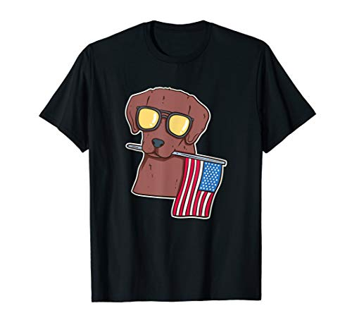 Chocolate Lab shirt for 4th of July T-Shirt