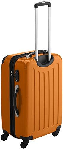 HAUPTSTADTKOFFER - Alex - 2er Koffer-Set Hartschale glänzend, TSA, 65 cm + 55 cm, 74 Liter + 42 Liter, Graphit-Gelb Champagner-orange