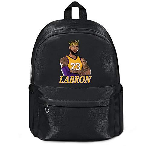 Womens Girl Boys College Bookbag King-Player-Labron-23- Casual Nylon Lightweight School Backpack Bag Black