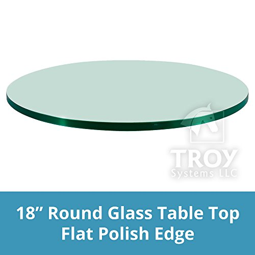 18'' Round 1/4 Inch Thick Flat Polished Tempered Glass Table