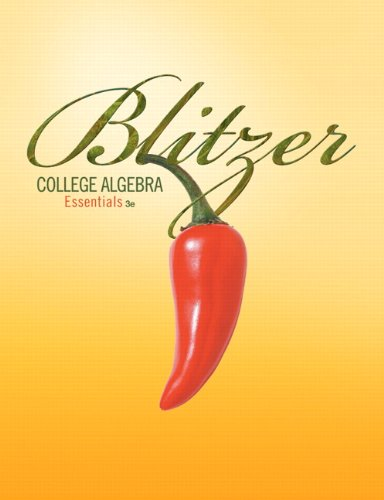 Instructor's Edition, College Algebra Essentials