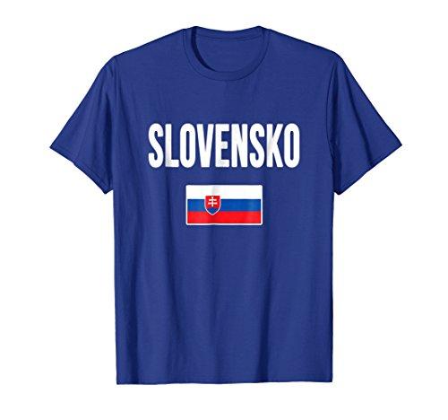 Mens Slovakia Flag T-shirt Slovak Slovensko 2XL Royal -