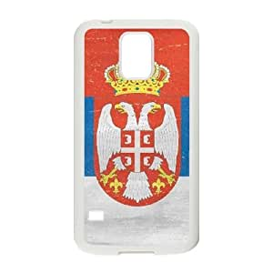 Samsung Galaxy S5 Cell Phone Case White Serbia Flag Distressed JSK696632