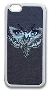 Butterfly Eyes Custom iphone 6 plus 5.5 inch Case Cover TPU White hjbrhga1544