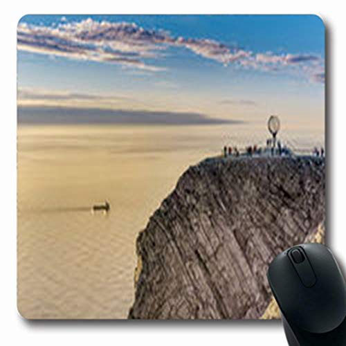 Pandarllin Mousepads Coastal North Cape Nordkapp On Tourism Northern Coast Nature Parks Outdoor Norway Oblong Shape 7.9 x 9.5 Inches Oblong Gaming Mouse Pad Non-Slip Rubber Mat