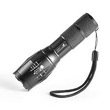G700 Touch Cree XM-L T6 1000 Lumen XML LED Light Zoomable led flashligh Waterproof Flashlight