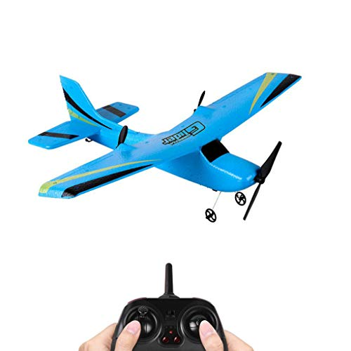 (Hisoul Z50 RC Airplane - 2.4G 2CH Remote Control Glider - 350mm Wingspan RC Airplane for Children Best RC Car Gift ( Blue))