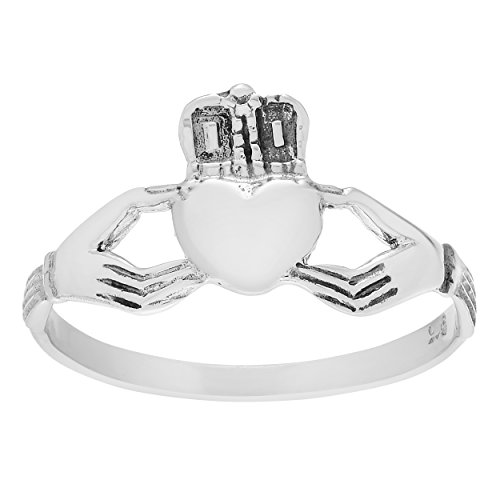 Celtic Claddagh Watch (Brinley Co Sterling Silver Celtic Claddagh Ring (Sizes 5-9))