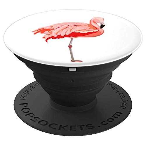 Beautiful Flamingo Bird Coral Drawing - Trendy Gift in 2019 - PopSockets Grip and Stand for Phones and Tablets (Coral Flamingo)