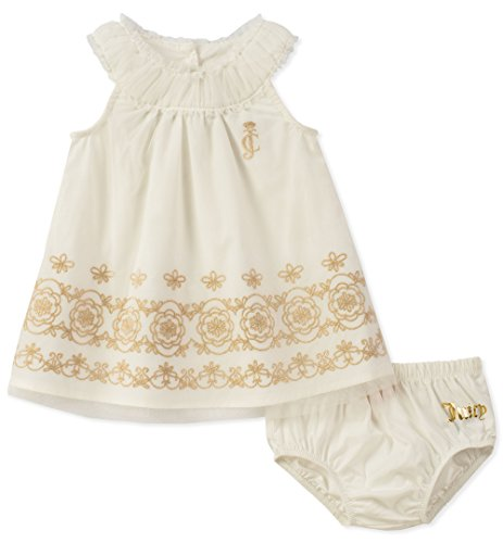 Juicy Couture Baby Girls Dress Panty Set, Vanilla/Gold,