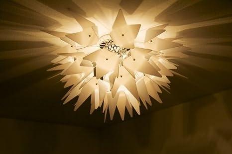 Plafoniera Muro Moderna : Lampada da soffitto moderna bianca plafoniera design lampadario