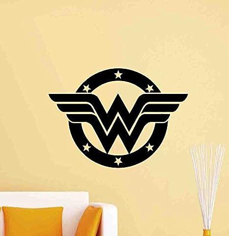 Amazon.com: Wonder Woman logo calcomanía decorativo para ...