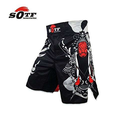 SOTF MMA Shorts Boxing Muay Thai Boxing Trunks Tiger Muay Thai Kickboxing Fight Wear Guan Yu China's Wind MMA