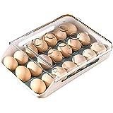 Egg Holder Container for Refrigerator 21 Egg tray Stackable Storag Plastic Egg Cartons Reusable for Devil Egg Refrigerator Eg